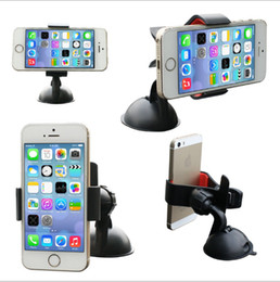 Wholesale free ipad gps - Hottest Universal Windshield 360 Degree Rotating Car Mount Bracket Holder Stand For IPhone 4 5 5C Samsung NOTE HTC GPS Ipad Free Shipping