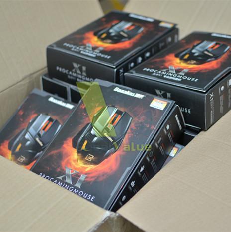 Bazalias Laptop Gaming Mouse 1.8 M 3X Placcato Oro 2000 DPI 6 Pulsante USB Wired LED Giochi Ottici Mouse Spedizione Gratuita