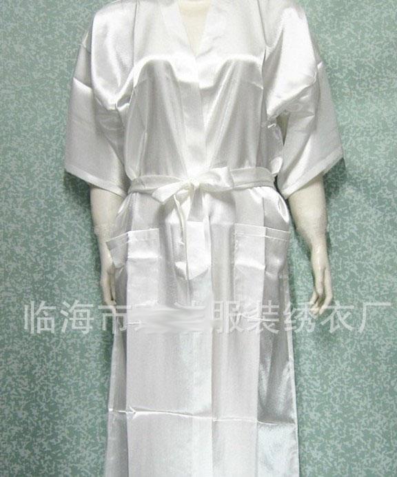 유니섹스 망 여성용 여성 솔리드 플레인 새틴 롱 로브 잠옷 란제리 잠옷 기모노 가운 # 3449