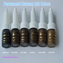 $enCountryForm.capitalKeyWord NZ - 6pc Permanent Makeup Ink Colors Assorted Golden Rose Micro Tattoo Makeup Pigment Cosmetic 15ml Cosmetic Kits Supply