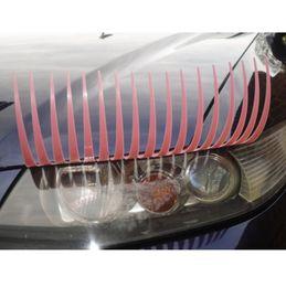 Wholesale Automotive Decal - 2pieces (=1 Pair) Pink 3D Automotive Eyelash Auto Part Stickers,Car Eyelash Lights Decal