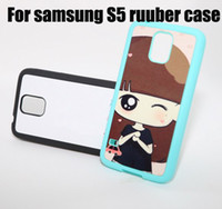 Wholesale Free Galaxy S3 Cases - TPU+PC blanks case for samsung galaxy S3 S4 S5 TPU sublimation printed case with metal insert Free shipping wholesale can mix model