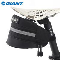 Wholesale Giant Saddle - Genuine Giant GIANT quick release folding mountain bike road bike tail bag saddle bag Tail Bag Bag