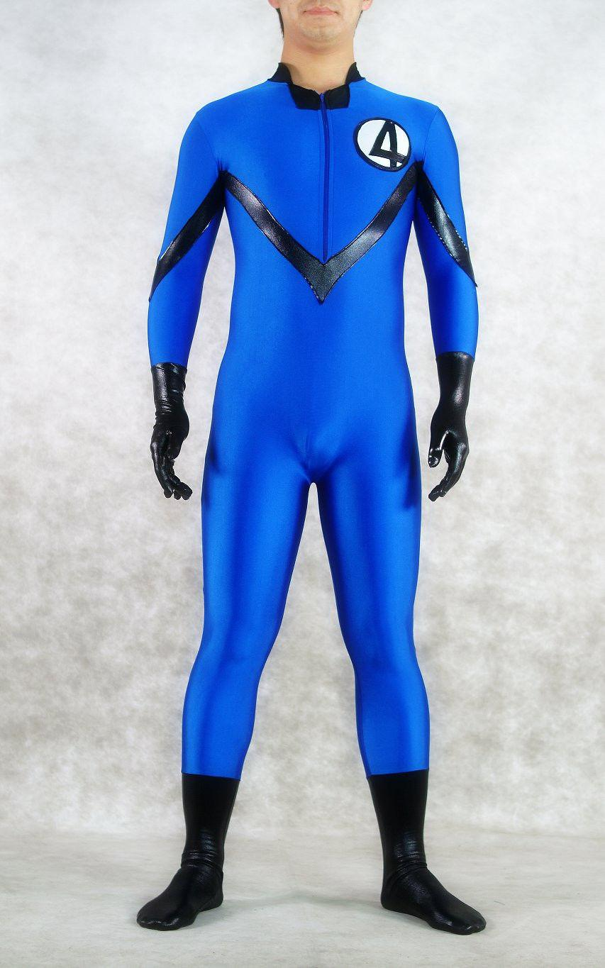 Blue Marvel Comics Fantastic Four Spandex Superhero Costume Costume cosplay di Halloween