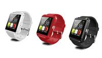 android nota gps al por mayor-Relojes de pulsera Bluetooth U8 Smart Watch con altímetro para iPhone 6 Samsung S6 Note 5 HTC Android Phone