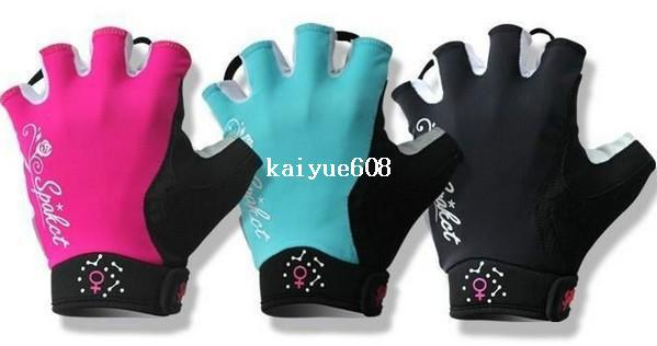 SPAKCT Women's Gel Pad Half Finger Cycling MTB Bicycle Bike Gloves - Simple Love Size:S~L 3 colors