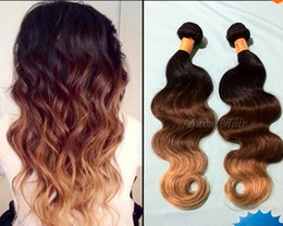 Wholesale Celebrity Body Wave - Fashion Hot Sale body wave ombre Peruvian virgin human hair extension weft weave 1b 4 27 ombre color Celebrity 3 or 4 bundles