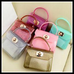 Wholesale Kids Candy Handbag - Hot 12 Candy Colors Kids Summer bags Children's handbags Girls Shoulder Bags Children Purse Girls Kids totes Women mini Bag KW-BA038