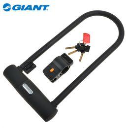 Wholesale U Bike Lock Cable - Genuine Giant new U-lock plus plus heavy bike lock securely GIANTU type electric lock anti-theft