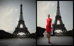 Wedding muslin backdrop online shopping - Vintage Eiffel Tower Building Wedding Props Photography Background For Photo Studio Muslin Computer Printed Digital Cloth Senior Backdrops
