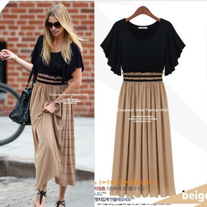 Wholesale 2017 HOT Summer Dress Woman Fashion Dresses Party Bohemian Casual Maxi Long Dress Plus Size Ladies Work Dress Girl Skirt S XL Q10