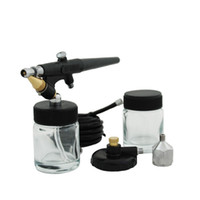 spray paint stencils - Single Action Airbrush mm High Flow Spray Gun Kit for Nail Paint Art Drawing