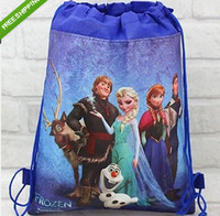 Wholesale Wholesale Princess Drawstring Backpack - Hot 12 pcs Princess Drawstring Cartoon BackPacks Tote Bag Nursery Party gifts
