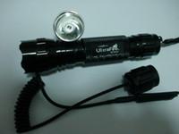 ingrosso lampadine ultrafire-Commercio all'ingrosso - Corpo nero Ultrafire 850nm 3W CREE LED infrarossi infrarossi IR lampadina rossa 501B torcia elettrica e pressostato remoto spedizione gratuita