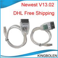 câble lecteur ecu achat en gros de-DHL Livraison Gratuite ECU Puce Tunning outil MPPS V13.02 ECU câble de programmation