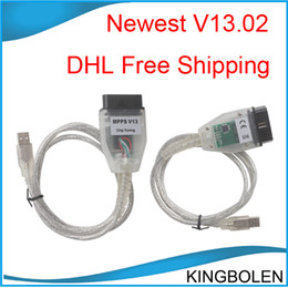 Wholesale Bmw Programming - DHL Free Shipping ECU Chip Tunning tool MPPS V13.02 ECU programming cable
