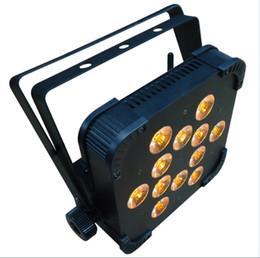 Wholesale Slim Par - DMX Wireless LED slim par light led par can dj Par Lighting with 12*15watt RGBWA 5colors-in-1 DJ light