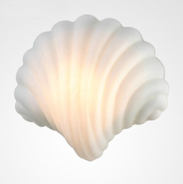 Wholesale Art Deco Wall Lighting - Glass Shell Wall Sconce Creative Light Wall Lamps Living Room Wall Lamps Hotel Bar Wall Lamps