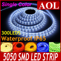 Wholesale Rainbow Rolls - Hot selling SMD 5050 flexible LED Strip light waterproof IP65 300LEDs 5m roll LED rainbow lights warm white yellow green blue red white