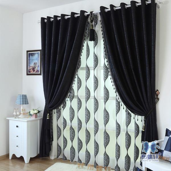 2016 On Sale! Luxury Window Curtains Flocked Organza Sheer / Tulle ...