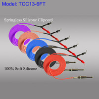 Wholesale Red Clip Cord - Blue Red Purple Pink Silicone Tattoo Clip Cord ForTattoo Power Kit Set Supply TCC13# Four Colors Optional