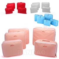 Wholesale Mesh Traveling Bags - organizer Traveling Bags in Bag home Mesh pouch Fashion storage Nylon Organizer Bag Set for cloth etc 5 pcs set