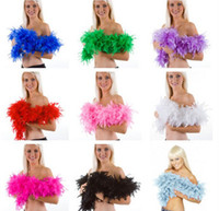 Wholesale Wholesale Flapper Dress - Glam Flapper Dance Fancy Dress Costume Accessory Feather Boa Scarf Wrap Burlesque Can Can Saloon