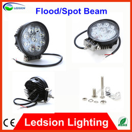 "Wholesale Offroad Round Light - 10pcs Fedex free 4"" inch 27W LED Working Light Spot Flood Lamp DC 12V-29V Motorcycle Truck Trailer SUV JEEP Offroad , Super Bright 1850Lm"