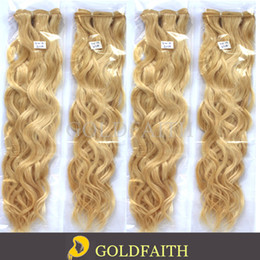 Wholesale 613 Lightest Blonde - Free Shipping #613 Lightest Blonde Natural Curl Brazilian Remy Hair Machine Weft Human Hair Extensions