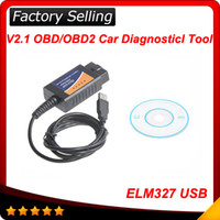 Wholesale Elm327 Interface Usb Obd2 - ELM327 Interface USB OBD2 Auto Scanner V1.5 OBDII OBD 2 II Hotsale free shipping
