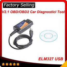 Wholesale Obd2 Usb Toyota - ELM327 Interface USB OBD2 Auto Scanner V1.5 OBDII OBD 2 II Hotsale free shipping