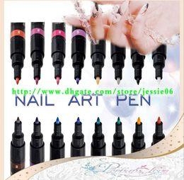 nail tools french brush 2019 - 2014 NEW Fashion Nail Art Pen Painting Design Tool 16 colors to Choose Drawing Gel Made Easy cheap nail tools french bru