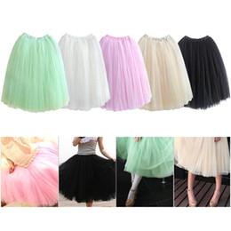 Wholesale Bouffant Knee Length Skirt Black - S5Q Women Dress Soft Gauze Cute Bouffant Skirt Hot Princess Fairy Style 5 Layers Tulle AAADCA