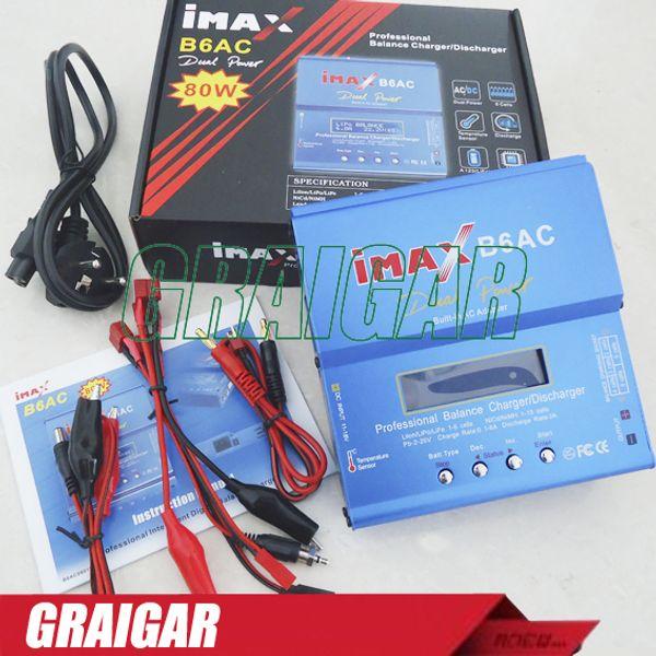 iMAX B6-AC B6AC Lipo NiMH 3s 4s 5s 11,1 В 7,4 В - 22,2 В RC зарядное устройство с балансировкой батареи, 2S-6S B6 зарядное устройство с выводами