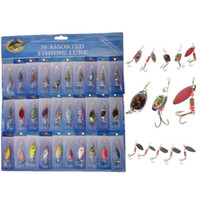 Wholesale Soft Bait Sets - S5Q 30pcs Kinds Of Fishing Lures Rotation Sequins Set Hooks Minnow Baits Tackle AAADCG