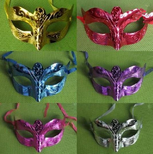 New Arrive fashion mask party masquerade placcato colorato handmake mask Maschera veneziana con maschera a sfera