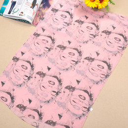 Wholesale Cheap Plain Headbands - 2015 Scarfs for Women Cheap Scarves Mother's Day Chiffon Scarfs Sarongs Enchanting Marilyn Monroe Pattern Printed Scarves 10pcs lot 4 Colors
