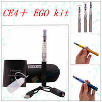 Wholesale Electronic Cigarette B Series - EGo Kits CE4+ CE4S CE4 + Clearomizer Electronic Cigarette Starter Kit Zipper EGO Case With CE4+ Rebuildable Atomizer 650mah 900mah 1100mah B