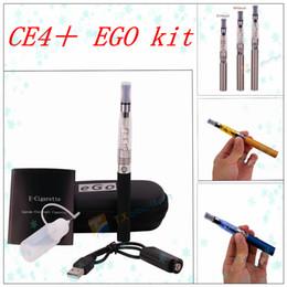 Wholesale Ego Atomizer B - EGo Kits CE4+ CE4S CE4 + Clearomizer Electronic Cigarette Starter Kit Zipper EGO Case With CE4+ Rebuildable Atomizer 650mah 900mah 1100mah B
