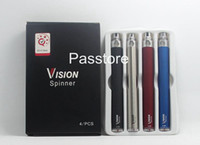 Wholesale ego e cigarette kits - Vision Spinner Variable Voltage Battery 3.3-4.8V 650mah 900mah 1100mah 1300mah for Ego series eGo Kit E cigarette