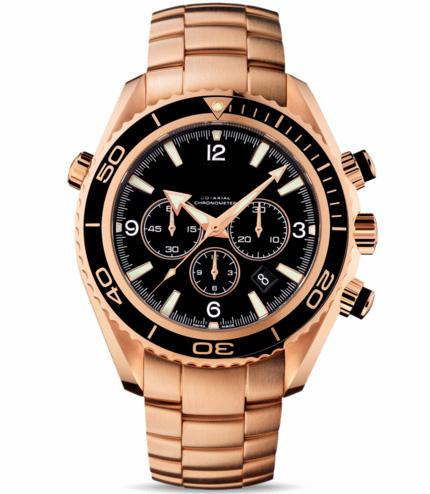 Luxury Swiss Top Brand Men Quartz Chronograph Watch Date Rose Gold 18K Sea Planet Ocean Co-Axial Watches Fashion Mens Sports Wristwatches