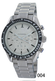 Mens swiss chronograph luxury watches online shopping - Luxury Mens Stainless Steel Watches Silvers Band Swiss Best Brands Professional Stopwatch Fashion Men Sport Quartz Chronograph Wrist watches
