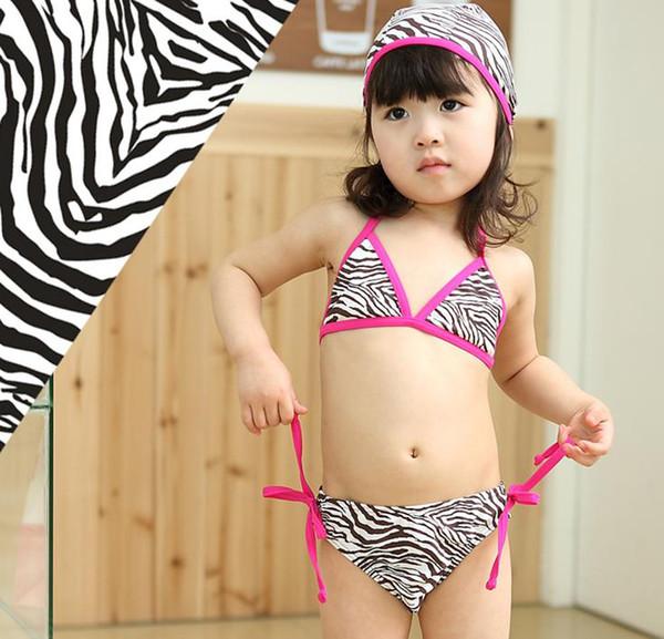 91770b8e21d0 Compre 2015 Chicas Sexy Bikini De Tres Piezas De Patrón Hermosa Cebra Niños  Traje De Baño 3,4,5,6,7T A $44.21 Del Royalkiss | DHgate.Com