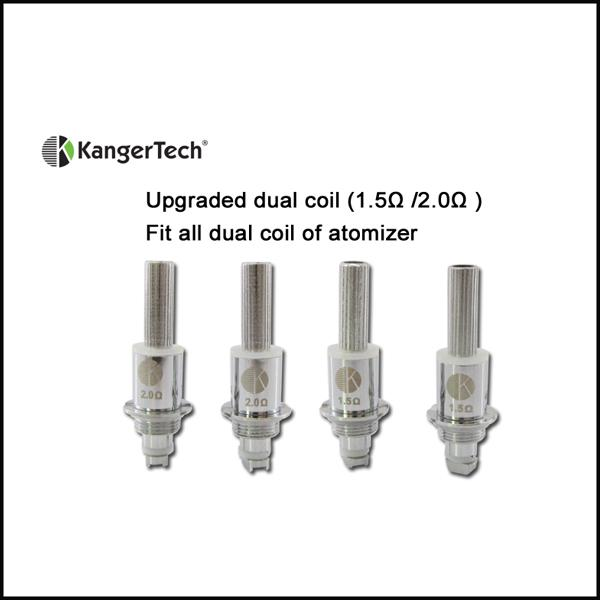 Kanger uppgraderade dubbla spolar för Kanter Aerotank Mega Aerotank Mini Aerotank Protank 3 Mini Evod 2 T3D Atomizer Protank 3 Dual Coil DHL Gratis
