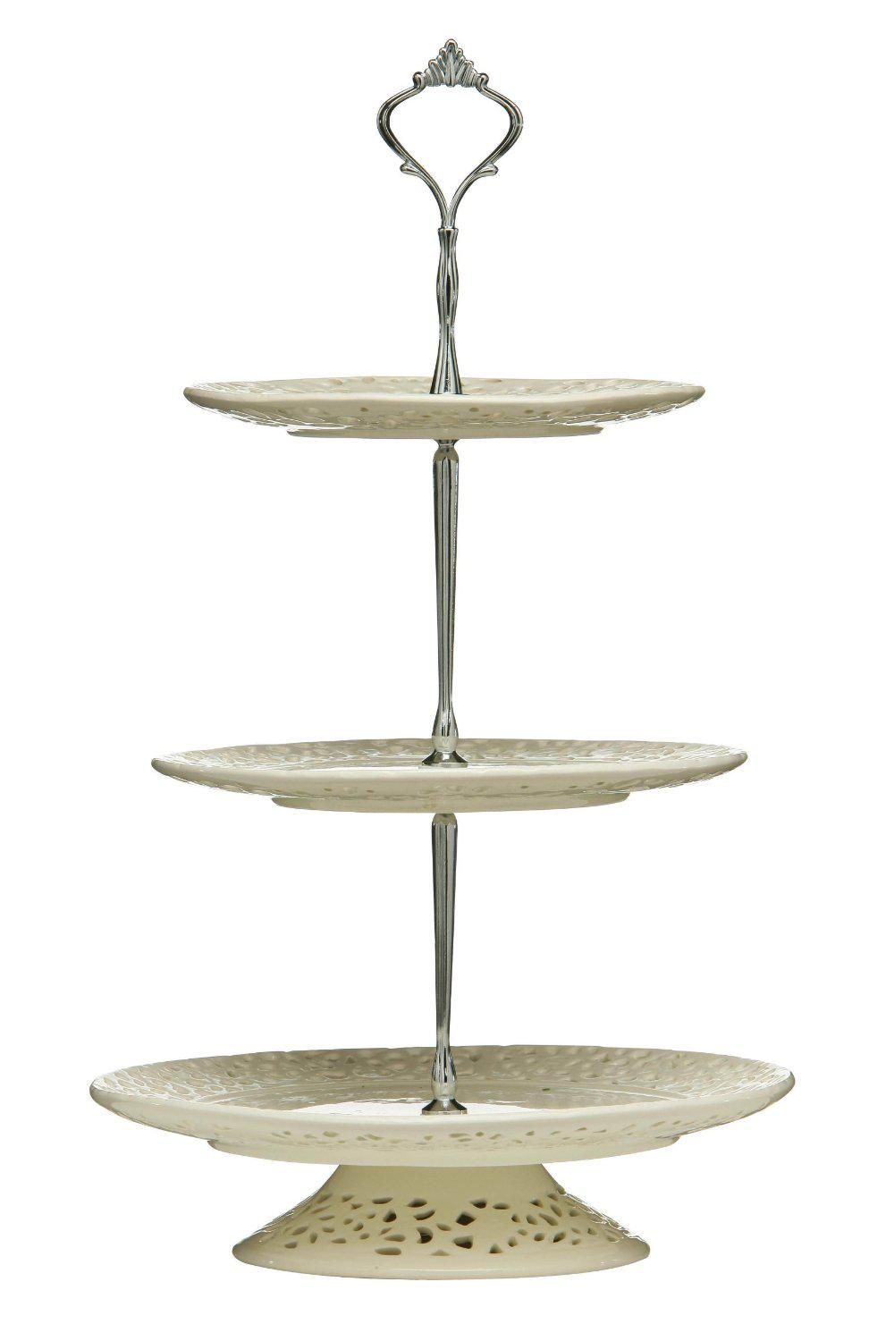 New Gold/Silver 3 Tier Cake Stand Cake Plate Display Holder Handle Fittings Metal for Tea Shop Room Hotel Wedding Party 3 Tier Cake Stand Wedding Cake Stand ...  sc 1 st  DHgate.com & New Gold/Silver 3 Tier Cake Stand Cake Plate Display Holder Handle ...