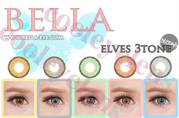 Wholesale Eyes Mm - wholesale Bella Elves 3 tone Diameter 14.5 mm color contact lens contact lens good quality and low price big size contact lenses