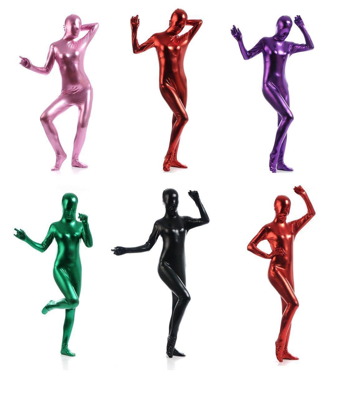 جديد رشيقة يونيكولور لامع ليكرا دنة كامل الجسم للجنسين Catsuit Zentai البدلة بالجملة