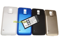 Wholesale Extended Cases - New For Samsung Galaxy S5 I9600 High Quality 6500mAh Extended Battery with Back Cover Case EB-BG900BBC Replacement Cell Phone Batteries