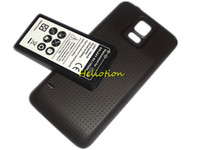 замена батареи сотового телефона оптовых-Аккумулятор G900 для Samsung Galaxy S5 I9600 6500mAh расширенный аккумулятор с задней крышкой корпуса EB-BG900BBC Замена аккумуляторов сотовых телефонов
