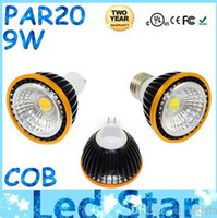 2016 Hot Sales PAR20 Led COB Lights 110V 220V Dimmable E27 E26 GU10 GU5.3 Ampoules Led Light High Bright CE CUL